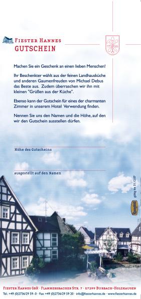 Fiester-Hannes-Gutschein