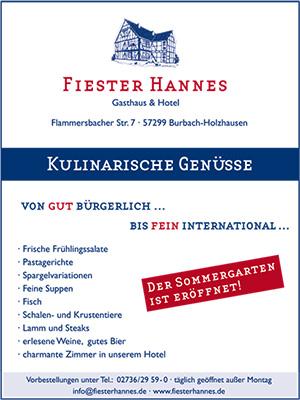 Fiester-Hannes-Anzeige
